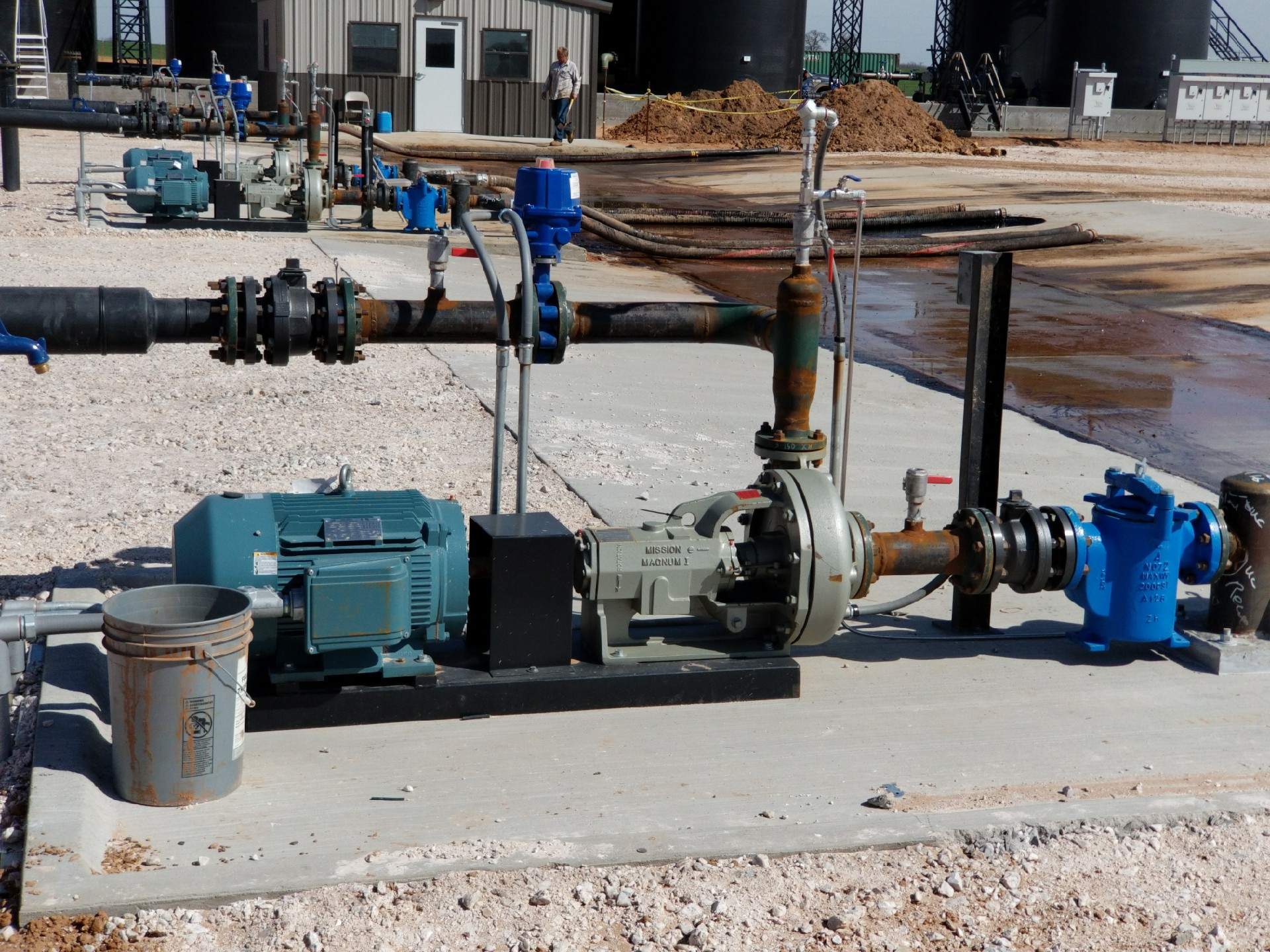 Pump and Drive System Installation at SWD Oil Field Site in Oklahoma